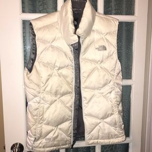 Cream 550 North Face vest